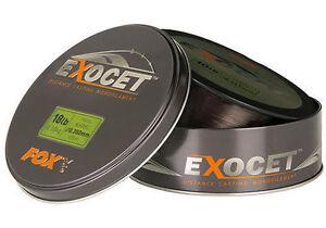 Fox Exocet Distance Casting Mono Line Trans Khaki Mainline 1000m *All Types* NEW