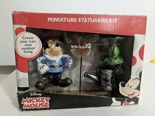 Disney Mickey Mouse 4 Piece Miniature Statuaries Garden Fairy Kit - Nib