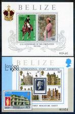 Belize 1978 Coronation 2nd set 2 miniature sheets mint hinged (2020/02/05#2)