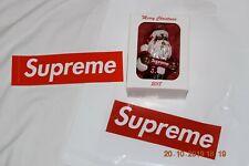 SUPREME 2018 Santa Christmas Ornament - new in box w/ sticker and bag  WoWza!!
