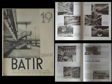 BATIR N°19 1934 PISCINES, GOVAERTS, BRUXELLES BAINS VAN SCHELLE, EUPEN, OSTENDE