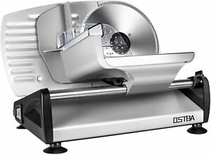 200 W Deli Food Meat Slicer Electric with Removable 7.5'' Stainless Steel Blade