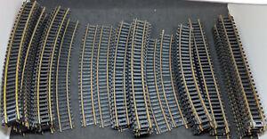 "HO ATLAS, TYCO: Brass curves, straight Track. 18"" 22"" 15""R 9""  70 Pc Lot Vintage"