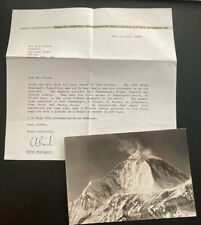 1960 Nepal Mount Everest Swiss Dhaulagiri Expedition RPPC Postcard Cover To UK