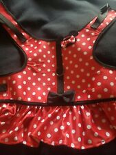 Minnie Mouse Dog Dress Harness w/Ruffles & Leash Hook - Disney Sz. Large