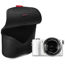 MATIN Neoprene DSLR SLR RF Mirrorles Camera Soft Body Case Pouch Bag (M/Black)
