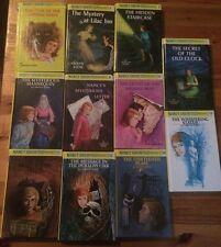 Lot of 11 hardcover Nancy Drew books, #1, 2, 4, 8, 16, 12, 14, 17, 19, 47, & 56