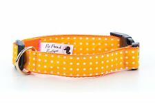 Polka Dot Puppy Dog Collar OR Lead Size Small - Extra Large