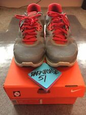 Nike Lunarglide+ 3 Sz 15 Grey Red Running Training Lebron