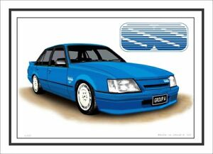 BROCK VK GROUP A SS COMMODORE LIMITED EDITION CAR DRAWING  A4  PRINT
