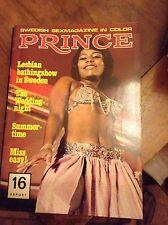 PRINCE - SWEDISH MAGAZINE SEXY EROTICA VINTAGE N°16 ANNI 70