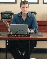 NATHAN FILLION.. as Richard Castle / Joe Flynn - SIGNED