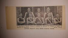 Lower Merion Pennsylvania High School 1910-11 Basketball Team Picture