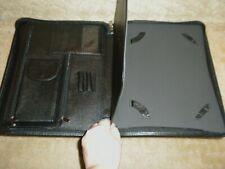 NEW Auburn Tigers Black Leather Notebook Organizer Portfolio By Enmon.