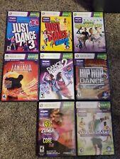 8 XBOX 360 Kinect Fantasia Just Dance 3 Zumba Central Kids Hip Hop Sports Shape