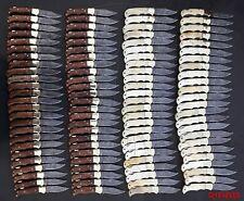 {Lot Of 100 Piece} Custom Damascus steel Handmade back lock pocket folding knife