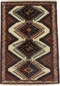 Rare Geometric Design Tribal 4X6 Farmhouse Hand Knotted Oriental Area Rug Carpet