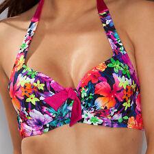 Pour Moi Polynesia Underwired Halter Bikini Top Multi - (3402)