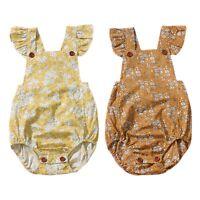 Newborn Baby Infant Girls Floral Cotton Romper Bodysuit Jumpsuit Outfit Clothes