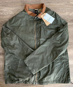 NWT Barbour Lightweight 4 oz Wax Admirality Jacket Green Mens Size Large