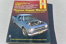Chevy GMC S-10 S-15, Blazer Jimmy Bravada Repair Manual Haynes 24070 1982 - 1993