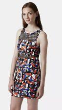 Topshop Airtex Brushstroke Body Con Dress Print Mesh Size 6 Nordstrom