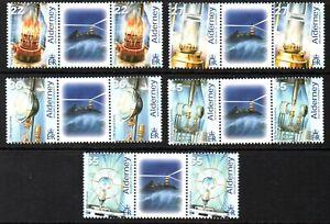 Alderney Stamps 2002 SG A192-A196  Electrification of Les Casquets   Mint MNH