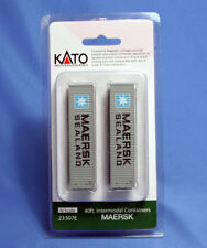 Kato-N  MAERSK 40' Intermodal Container 2-pack  #23-507E *FREE Shipping*