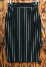 90s Pencil Skirt Noma Kamali Black and White Pin Stripe Size 2