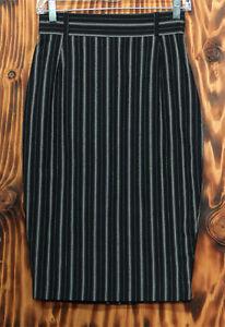90s Pencil Skirt Noma Kamali Black and White Pin Stripe Size 2