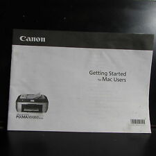 Canon PIXMA MX860 printer Getting Started for Mac User Guide Manual O401823