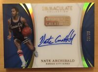 Nate Archibald Autograph 2017 Panini Immaculate Collections Marks Of Greatness