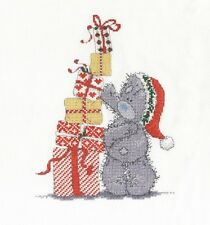 "DMC Natale Tatty Teddy ""Christmas PRESENS"" Punto Croce Kit"