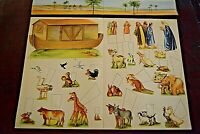 Sunday School, Noah's Ark, Cut Outs, Vintage, Church, Bible, Animals, Moses