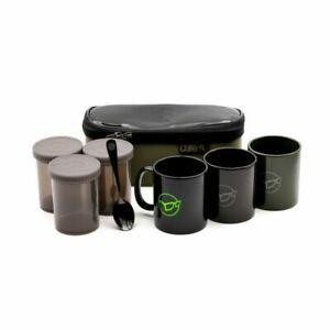 KORDA COMPAC TEA SET 3 Mugs,  tea coffee & sugar pots & teaspoon KLUG13 BREW KIT
