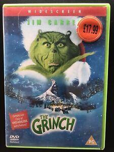 The Grinch DVD 2000 Region 2 Jim Carrey