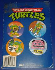 1990 *** 4 x PIN BADGES MOC 2 RAPH *** BADGE TEENAGE MUTANT NINJA TURTLES TMNT