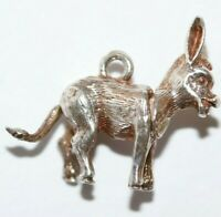 Rare Mechanical Donkey With Moving Head Sterling Silver Vintage Bracelet Charm