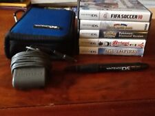 Nintendo DS Lite + 5 In Box Games + Wall Charger + Case + Nintendo Pen