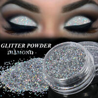 Sparkly Makeup Glitter Loose Powder EyeShadow Silver Eye Shadow Pigment 0.4MM