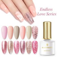 6ml Born Pretty UV LED Gel Nail Polish Soak Off Glitter Rose Gold DIY Gel Nails