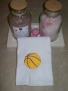 Personalized Sports Towel with Grommet & Hook - Basketball Sport