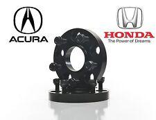 2 Honda Acura Black 5x114.3 Hub Centric Wheel Spacers 20mm Forged Aluminum