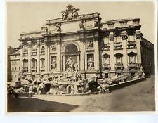 Italie, Rome, Fontana di Trevi Vintage albumen print.  Tirage albuminé  18x2