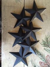"(Set of 24 ) Black Barn Stars 7 7/8"" """"CRAFT SUPPLIES"" SLIGHT SCUFF/NICK Rustic"