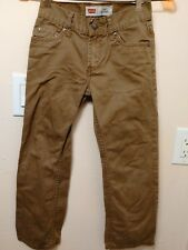 LEVI'S 514 STRAIGHT SIZE 8 OLIVE GREEN PANTS