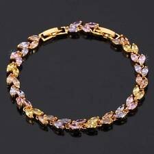 New Top Quality 18K Gold Plated Zirconia Bracelet Bangle