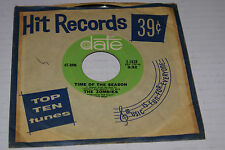 """The Zombies """"Time of the Season/ Friend of Mine"""" Date 7"""" + Vintage Sleeve VG/VG"""