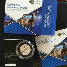 2014 RM Glasgow Commonwealth Games PIEDFORT Silver Proof 50p Fifty Pence Coin