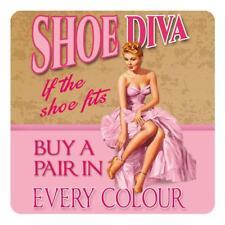 Shoe Diva Funny Pin-up Girl Loves Shoes Gift Melamine Drinks Table Coaster